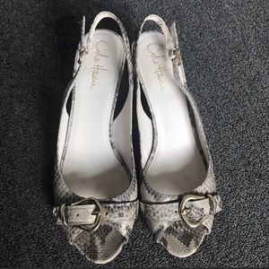 Cole Haan snake skin print leather heel size 8 1/2